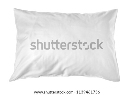 Blank soft pillow on white background #1139461736