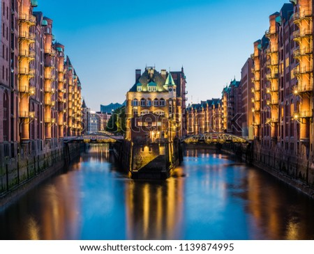 Hamburg Harbour City Germany #1139874995