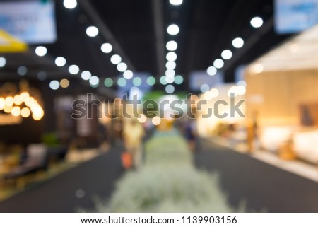 Abstract blurred furniture home decor expo background #1139903156