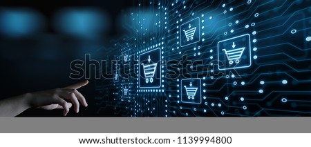 e-commerce add to cart online shopping business technology internet concept. Royalty-Free Stock Photo #1139994800