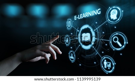 E-learning Education Internet Technology Webinar Online Courses concept. #1139995139