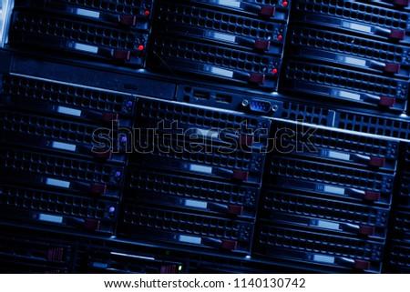 Server rack cluster in a data center #1140130742