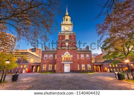 Independence Hall in Philadelphia, Pennsylvania, USA. #1140404432