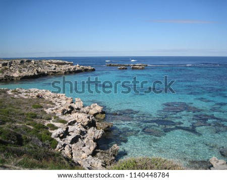Cove on Rottnest Island Australia #1140448784