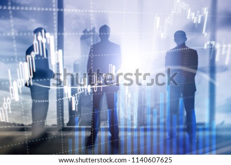 Forex trading, Financial market, Investment concept on business center background. #1140607625