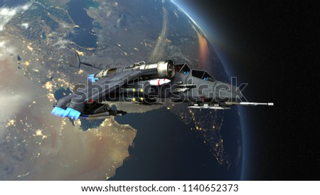 3D CG rendering of the grand hall.Elements of this Image Furnished By NASA #1140652373