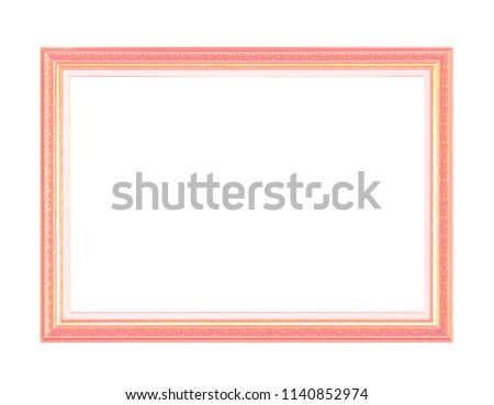 Pink  frame on white background