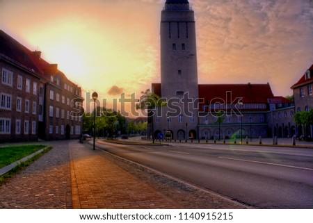 Watertower in Delmenhorst  Royalty-Free Stock Photo #1140915215