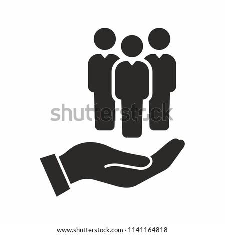 Human resources icon Royalty-Free Stock Photo #1141164818