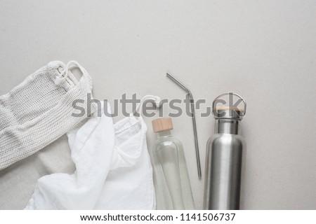 Zero Waste Starter Kit for shopping, Minimalism Royalty-Free Stock Photo #1141506737