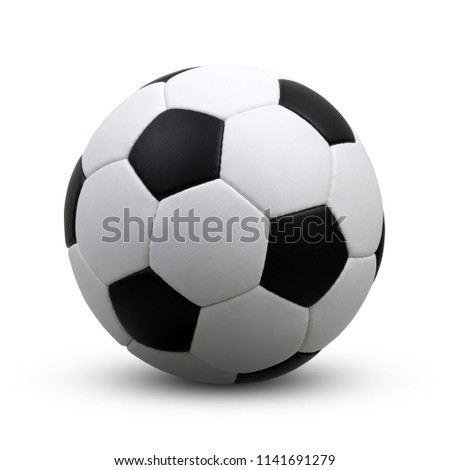 soccer ball isolated on white #1141691279