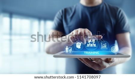 Training Webinar E-learning Skills Business Internet Technology Concept. Royalty-Free Stock Photo #1141708097