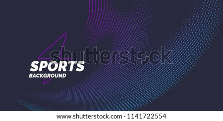 Bright abstract background with a dynamic waves of minimalist style. Vector illustration for website design Royalty-Free Stock Photo #1141722554