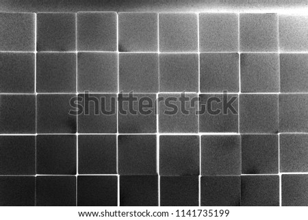 abstract of stack metal cube for background used #1141735199