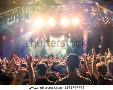 Arena concert night shot #1141747946