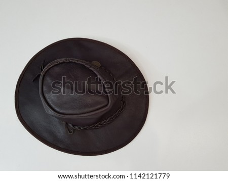 classic brown suede cowboy hat with curved margins #1142121779