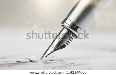 Signature with a fountain pen #1142144000