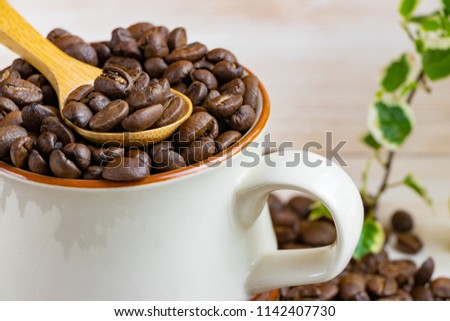 Overall coffee beans #1142407730