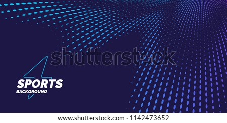 Bright abstract background with a dynamic waves of minimalist style. Vector illustration for website design Royalty-Free Stock Photo #1142473652