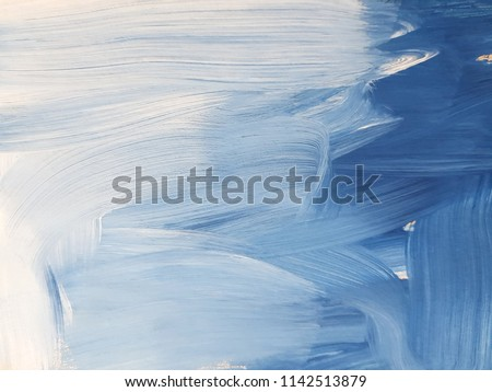 Abstract blue art painting background. Modern art. Contemporary art  #1142513879