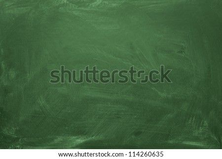 Blank green chalkboard, blackboard texture with copy space Royalty-Free Stock Photo #114260635
