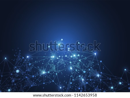 Internet connection, abstract sense of science and technology graphic design. #1142653958
