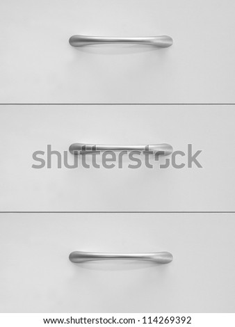 A desk drawer isolated against a white background #114269392