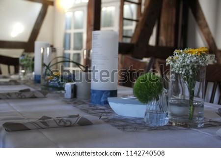 Floral arrangement and decoration for wedding day #1142740508