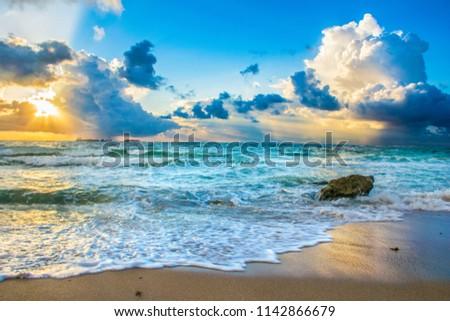 Beautiful Fort Lauderdale Beach Florida Sunrise FL #1142866679