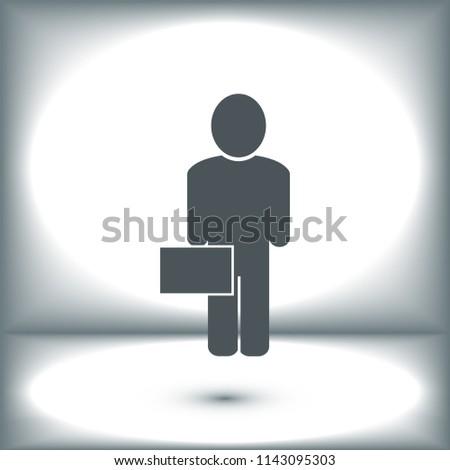 man business icon, stock vector illustration flat design style #1143095303