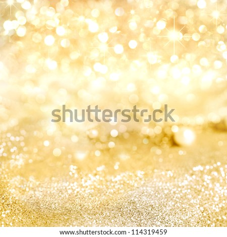 Decorative gold background with sparkling Royalty-Free Stock Photo #114319459