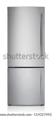 refrigerator isolated on white #1143274928