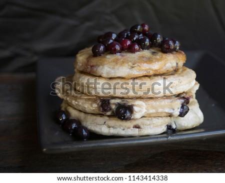 Gluten Free Vegan Blueberry Pancakes #1143414338