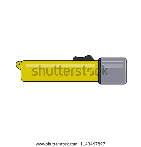 Flashlight for diving. Abstract concept, icon. Vector illustration on white background. #1143467897