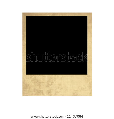 Isolated old  instant photo on a white background #11437084