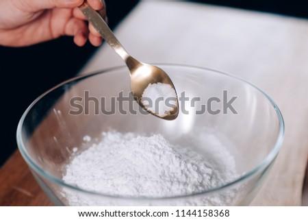 Chef Puts Salt in Flour #1144158368