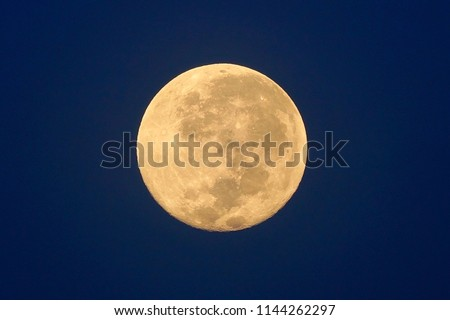 Full Moon / A full moon is the lunar phase that occurs when the Moon is completely illuminated as seen from Earth. #1144262297