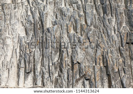 The texture of a stone abstract pattern in nature. #1144313624