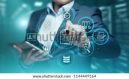 Document Management Data System Business Internet Technology Concept. #1144449164