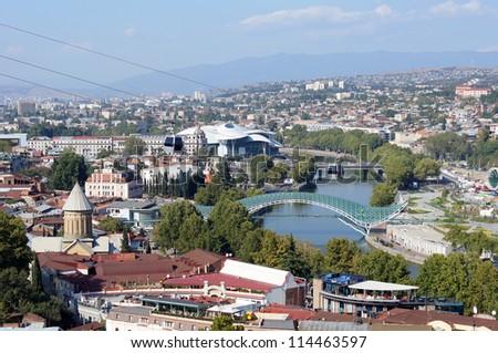 Panoramic view of Old Tbilisi, Republic of Georgia #114463597