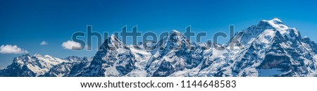 Shilthorn, alps panorama view #1144648583