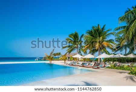 Amazing paradise island. Vacation deluxe. Holiday for honeymooners #1144762850