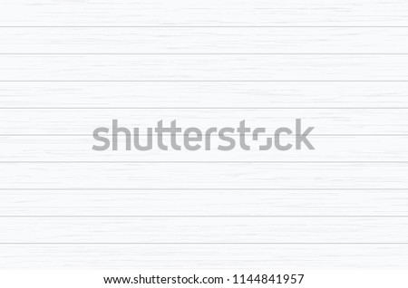 White wood plank texture for background. Vector illustration. #1144841957
