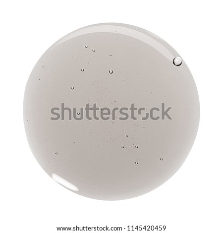 Sample of make up product, cosmetics smear or drop isolated on white #1145420459
