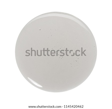 Sample of make up product, cosmetics smear or drop isolated on white #1145420462