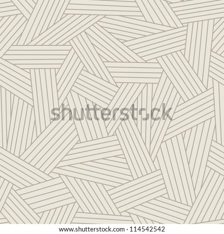 Vector light seamless pattern with interweaving of thin lines. Traditional hatching of architectural hand drawn graphic. Simple abstract ornamental gray illustration with stylized texture of covering