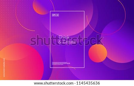 Creative geometric wallpaper. Trendy gradient shapes composition. Eps10 vector.