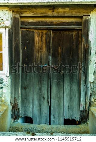 Rustic old barn door #1145515712