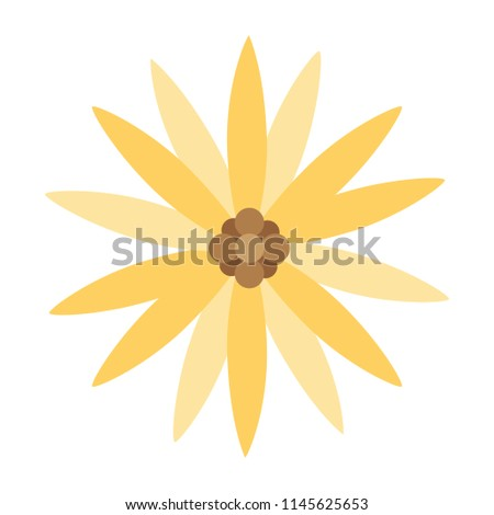 cute exotic flower with petals style #1145625653