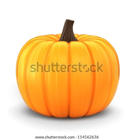 3d render of a pumpkin isolated in a white background